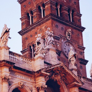A detail of the Basilica di Santa Maria Maggiore