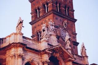 A detail of the Basilica di Santa Maria Maggiore