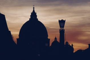 St. Peter's Basilica at sunset
